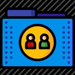 files, folders, people, profile, profiles, user, users icon