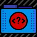 code, files, folder, folders, php, script, tag icon
