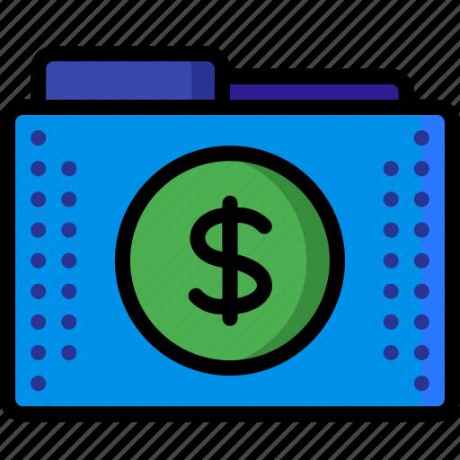 currency, dollar, files, finance, folder, folders, money icon