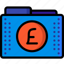 currency, fees, files, finance, folder, folders, pound icon