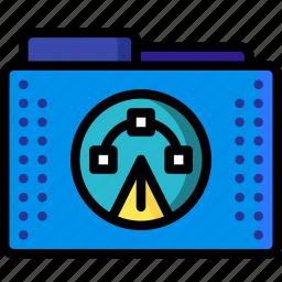 adobe, and, files, folder, folders, paths, pen icon
