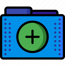 add, create, files, folder, folders, plus icon