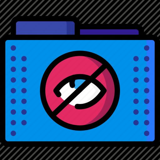 eye, files, folder, folders, hidden, hide icon