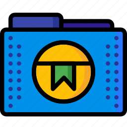 bookmark, favourite, files, folder, folders, marked, ultra icon