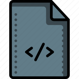 code, comment, files, folders, html, script, tags icon