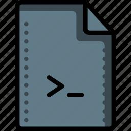 cmd, code, command, files, folders, script, shell icon
