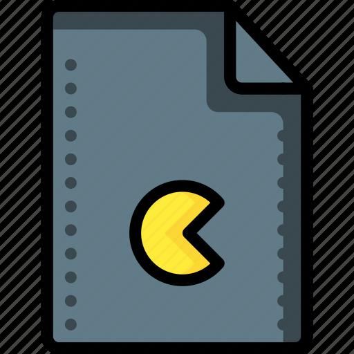atari, files, folders, game, pacman, rom, video icon