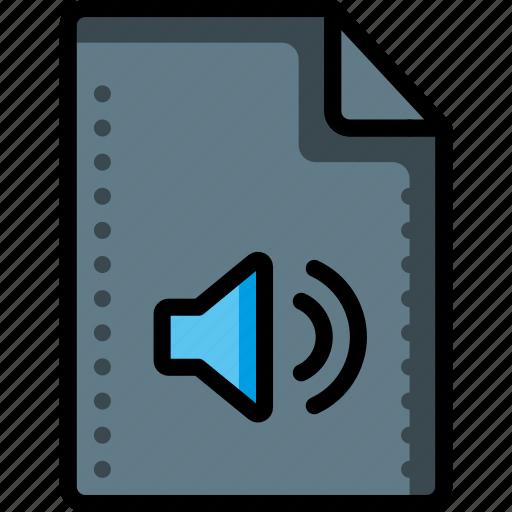 audio, file, files, folders, music, sound, speaker icon