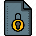 access, denied, file, files, folders, locked, padlock icon