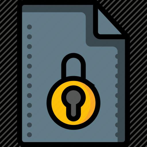 access, denied, file, files, folders, locked, padlock icon