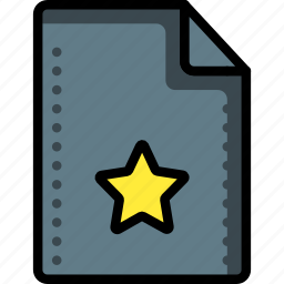 bookmark, favourite, files, folders, marked, star, starred icon