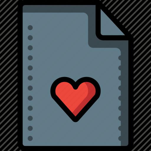 bookmark, favourite, file, files, folders, heart icon