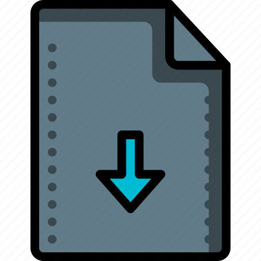arrow, down, download, file, files, folders icon
