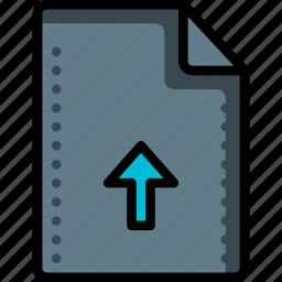 arrow, file, files, folders, up, upload icon