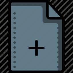 add, create, file, files, folders, plus icon