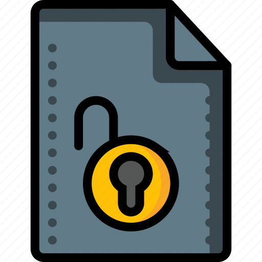 access, file, files, folders, padlock, unlock icon