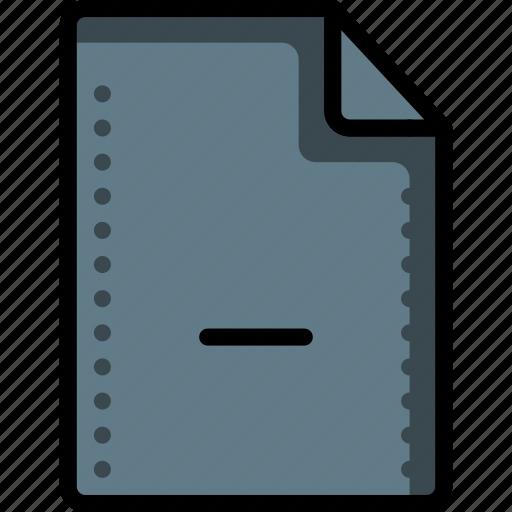 delete, deleted, file, files, folders, minus, remove icon