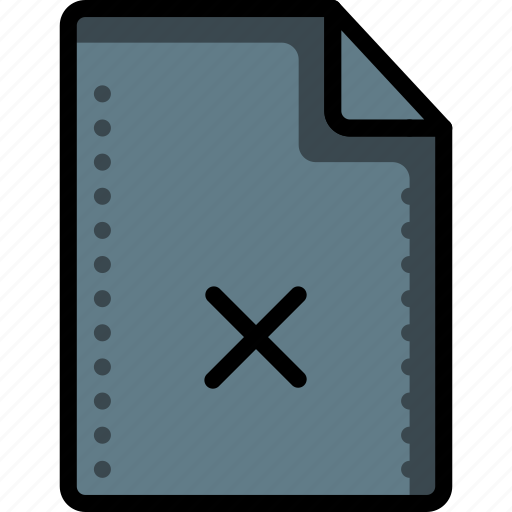 cross, delete, file, files, folders, reject, rejected icon