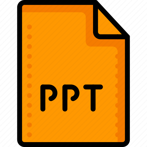 extension, files, folders, microsoft, powerpoint, ppt, presentation icon