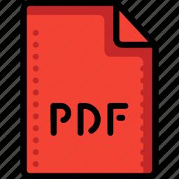 adobe, extension, file, files, folders, pdf, postscript icon