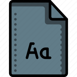 extension, file, files, folders, font, type, typeface icon