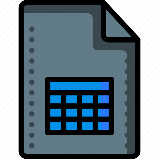chart, excel, extension, file, files, folders, spreadsheet icon