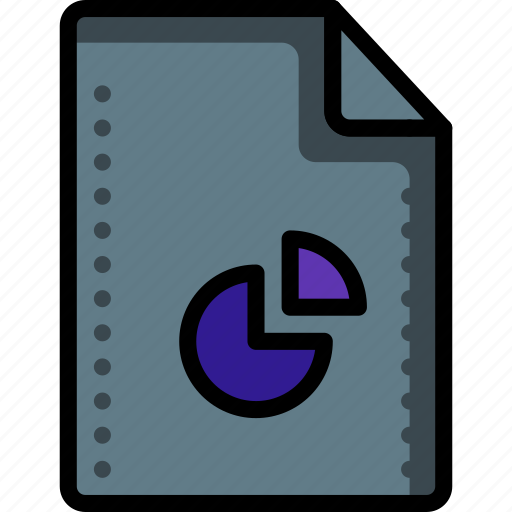 chart, excel, file, files, folders, graph, pie icon