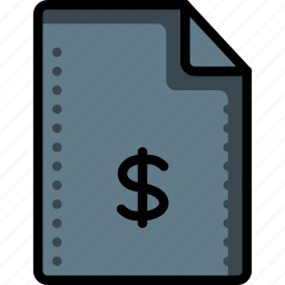 currency, dollar, fees, files, finance, folders, money icon