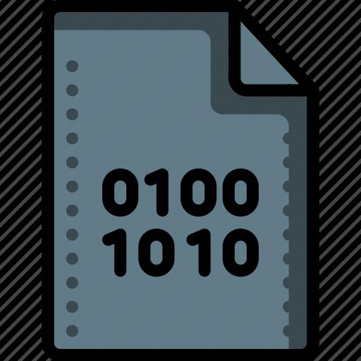 binary, data, extension, file, files, folders, script icon