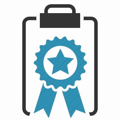award, clipboard, prize, quality icon