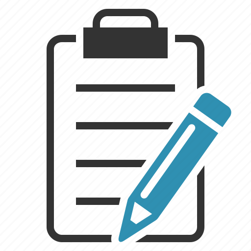 clipboard, pencil, track, write icon