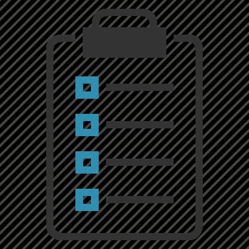 checklist, clipboard, list, todo icon