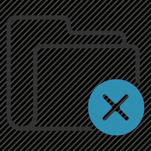 Folder, delete, close, remove icon - Download on Iconfinder