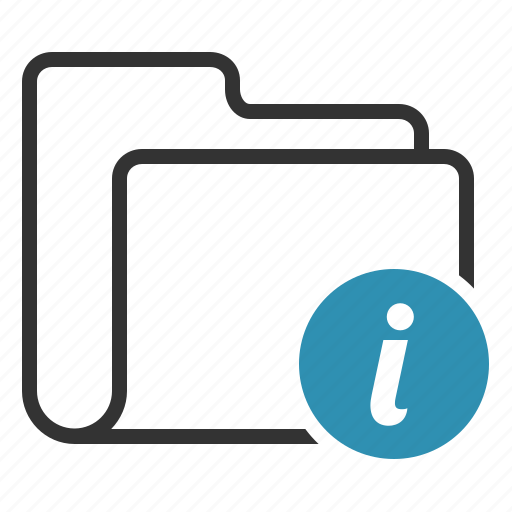 folder, info, information icon