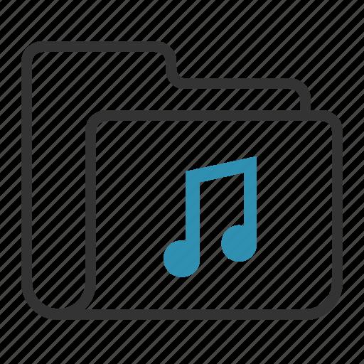 audio, folder, music, sound icon