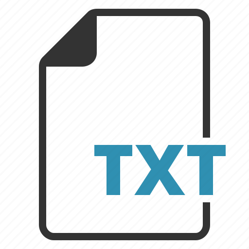 extension, file, text, txt, type icon