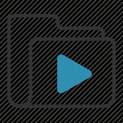 film, folder, movie, video icon