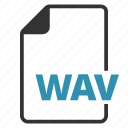 extension, file, type, wav icon