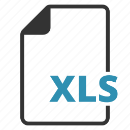 extension, file, type, xls icon