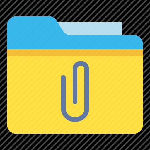 archive, attachment, file, folder icon