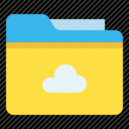 archive, cloud, file, folder icon