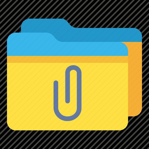 archive, attachment, folder, multiple icon