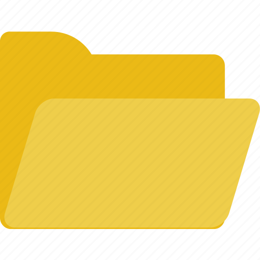 empty, folder, minimal icon