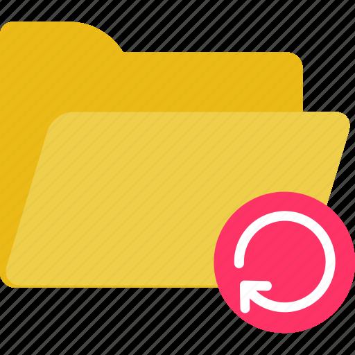 empty, folder, refresh, reload icon