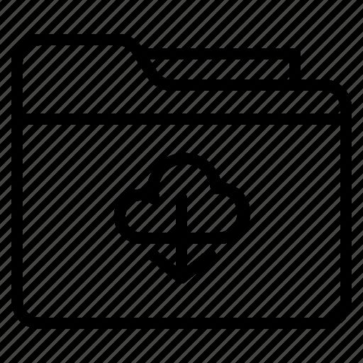archive, download, file, folder icon