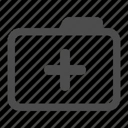 add, archive, folder, more, new, plus icon