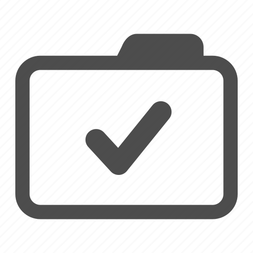 accept, agreed, approved, archive, check, endorsed, folder icon