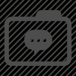 archive, bubble, chat, comment, folder, message, talk icon