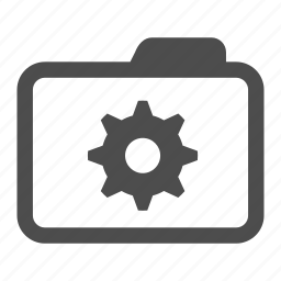 archive, cog, folder, options, settings, system, tool icon