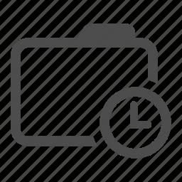 alarm, archive, delayed, folder, history, postponed, schedule icon